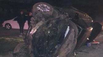 În urma accidentului, pasagera în vârstă de 17 ani a fost grav rănită. FOTO IPJ Constanța