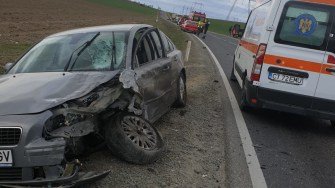 Mașinile implicate în accident au fost grav accidentate. FOTO IPJ Constanța