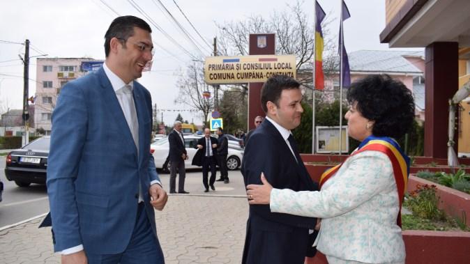 Reprezentanții Guvernului au vizitat comuna Cumpăna. FOTO Primăria Cumpăna