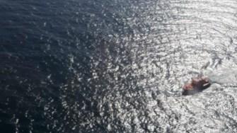 Un elicopter al Inspectoratului General al Aviației a participat la misiunea de căutare. FOTO IGAV