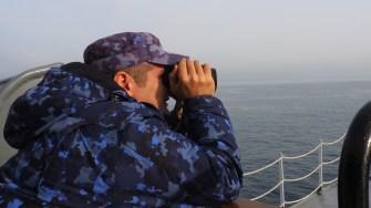 Marinarii români au intrat în alertă. FOTO Cătălin SCHIPOR