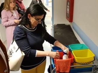 Sorina Pintea, în control la Spitalul de Urgență Constanța. FOTO CJ Constanța