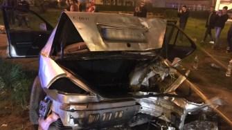 Patru persoane au fost rănite în urma accidentului din stațiunea Mamaia. FOTO IPJ Constanța