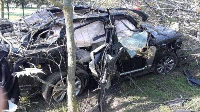 Mașina avariată a fost găsită întâmplător de către un localnic