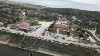 Elicopterul SMURD a fost solicitat să survoleze zona. FOTO ISU Dobrogea