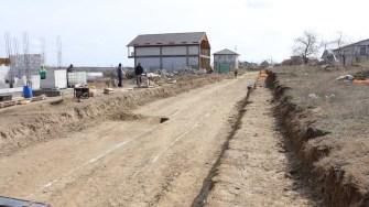 Primăria Cernavodă face lucrări de infrastructură pentru un nou cartier al orașului. FOTO Adrian Boioglu