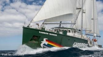 Nava Greenpeace - Rainbow Warrior, ajunge în România. FOTO Greenpeace