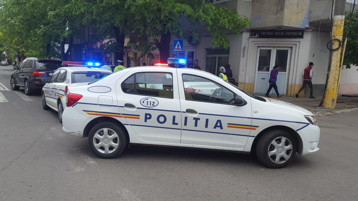 accident masini politie