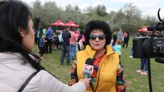Mariana Gâju, la petrecerea de 1 Mai de la Cumpăna. FOTO Adrian Boioglu