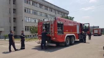 Incendiu la Spitalul CFR din Constanța. FOTO ISU Dobrogea