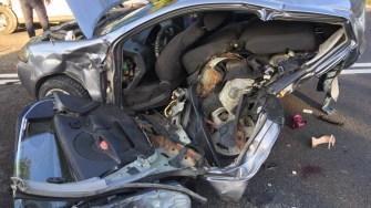 Mai multe persoane au fost rănite în urma accidentului în lanț. FOTO IPJ Constanța