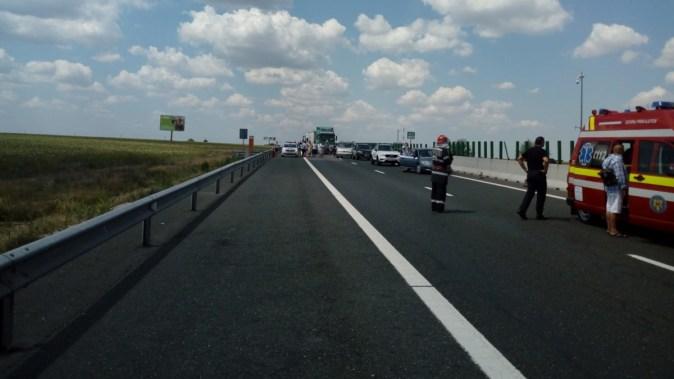 Pompierii au intervenit cu două autospeciale. FOTO DRDP Constanța