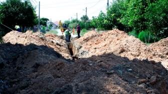 Lucrări de canalizare în comuna Lumina. FOTO Ctnews.ro