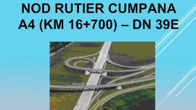 Planurile nodului rutier Autostrada A4 - Cumpăna