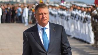 Președintele României, Klaus Iohannis a fost prezent la festivitățile organizate de Ziua Marinei. FOTO Cătălin SCHIPOR