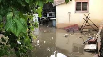Ploile abundente au inundat mai multe gospodării. FOTO ISU Dobrogea