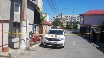 Locul faptei a fost izolat de către polițiști. FOTO IPJ Constanța