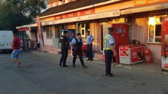 Echipajele mixte de poliție și jandarmi au verificat gara din Medgidia. FOTO CTnews.ro