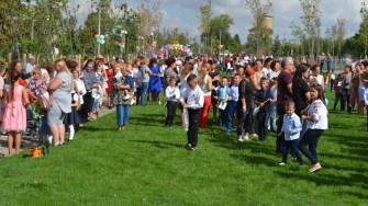 Patru parcuri au fost inaugurate în Negru Vodă, în prima zi de școală. FOTO Ctnews.ro