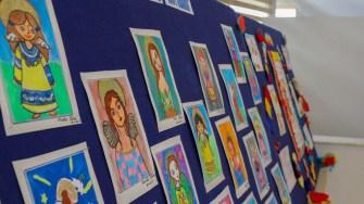 Picturile copiilor au fost expuse cu ocazia zilei unității de învățământ. FOTO Primăria Ovidiu