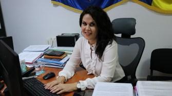 Laura Nicolescu din cadrul Primăriei Cernavodă. FOTO CTnews.ro