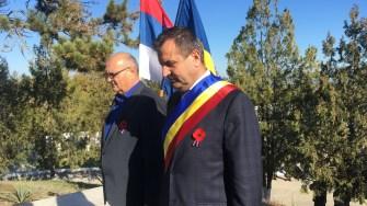 Primarul Valentin Vrabie, la comemorarea eroilor străini căzuți în Dobrogea, de la Medgidia. FOTO CTnews.ro