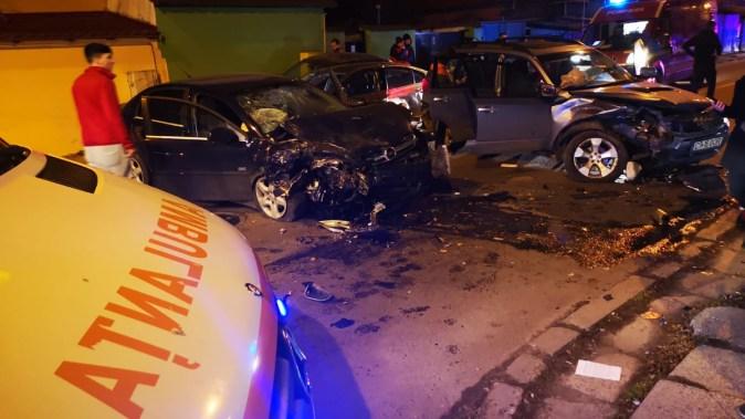 În urma accidentului au fost rănite cinci persoane. FOTO SAJ Constanța