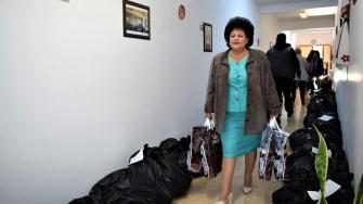 Multe familii din Cumpăna au primit ajutoare constând în alimente, oferite de Primăria și Consiliul Local Cumpăna. FOTO Primăria Cumpăna