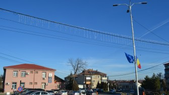 Iluminat festiv în comuna Lumina. FOTO CTnews.ro