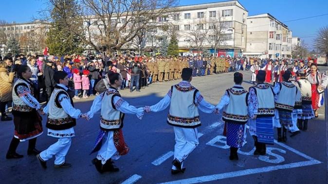 Hora Unirii a fost repetată la Medgidia. FOTO Primăria Medgidia