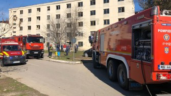 Pompierii au intervenit la locul exploziei. FOTO CTnews.ro