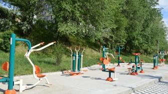 În Cernavodă au fost construite două săli fitnes în aer liber. FOTO Primăria Cernavodă