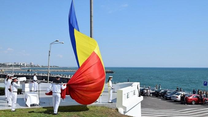 Ziua Drapelului Național, marcată de marinarii militari. FOTO Forțele Navale