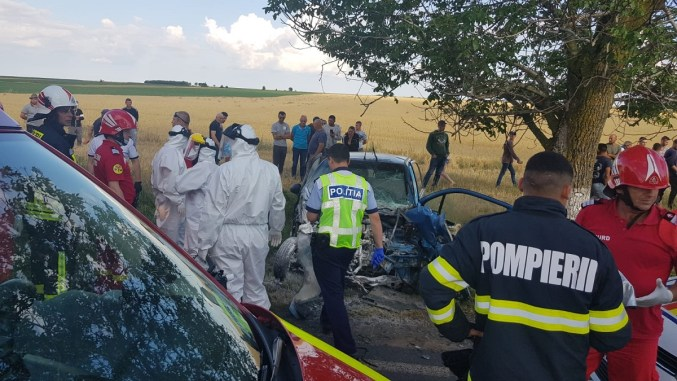 Grav accident rutier petrecut între Ciocârlia și Cobadin. FOTO ISU Constanța