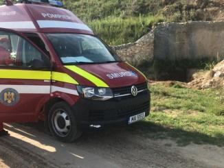 Copil căzut în groapă, în apropiere de Corbu. FOTO ISU Dobrogea