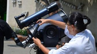 Pregătiri pentru eclipsa parțială de soare de la Constanța. FOTO CH