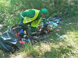 Igienizare taluz. FOTO Primăria Constanța