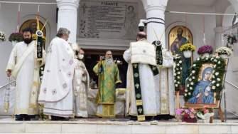Ceremonie religioasă oficiată de Arhiepiscopul Tomisului la Cumpăna. FOTO Primăria Cumpăna