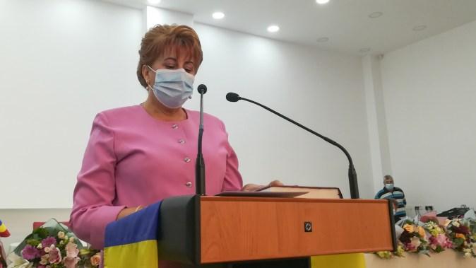 Dorinela Irimia, primarul comunei Saraiu. FOTO Paul Alexe