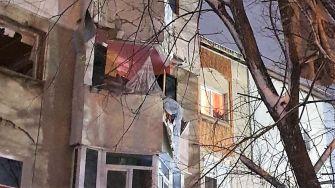 """Explozia unei centrale termice într-un bloc din Medgidia. FOTO ISU """"Dobrogea"""""""