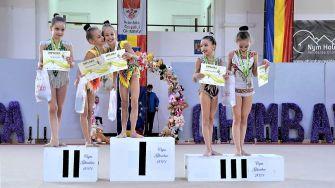Gimnastele din Cumpăna s-au întors cu nouă medalii de la un concurs organizat la Ghimbav. FOTO Primăria Cumpăna