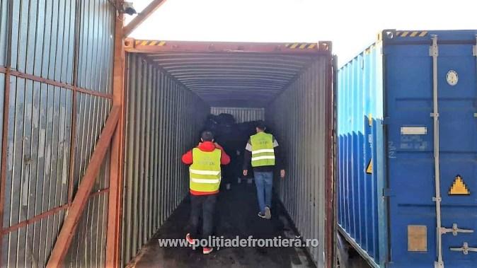 Container din Regatul Unit al Marii Britaniei, încărcat cu deșeuri, depistat în Portul Constanţa