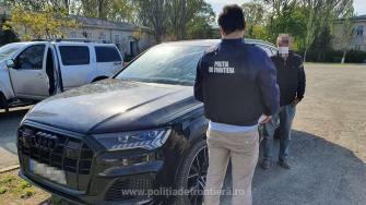 Mașină furată din Germania, găsită de polițiștii de frontieră. FOTO Poliția de Frontieră