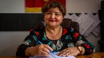 Primarul comunei Gârliciu, Anica Tufă. FOTO Paul Alexe