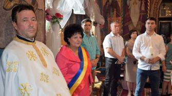 Copii abandonați de părinți, botezați la Cumpăna. FOTO Primăria Cumpăna