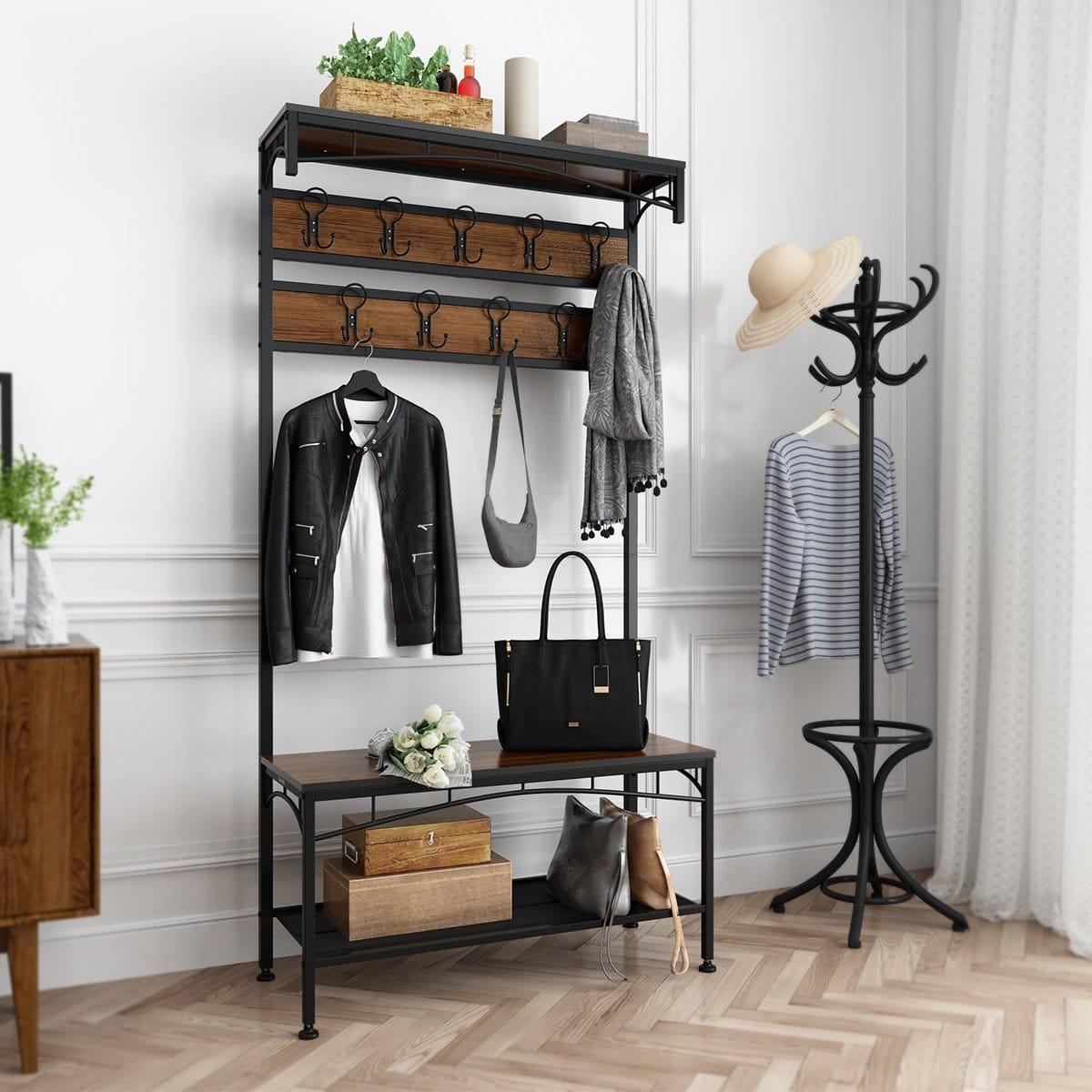 top 10 best coat rack with shoe bench