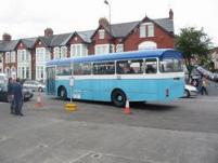 Islwyn Leopard DNY534V pulls away from the depot stop on route to Barry Island