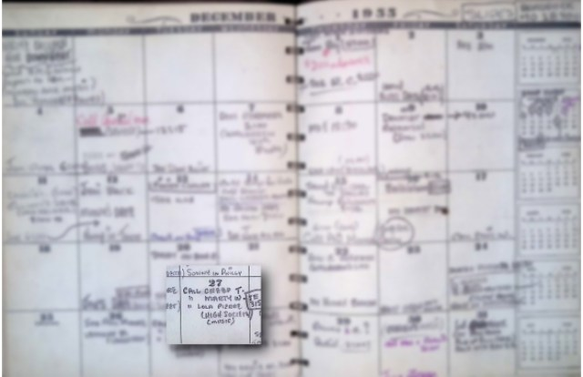 picture of Quincy Jones calendar for the month of December 1955.