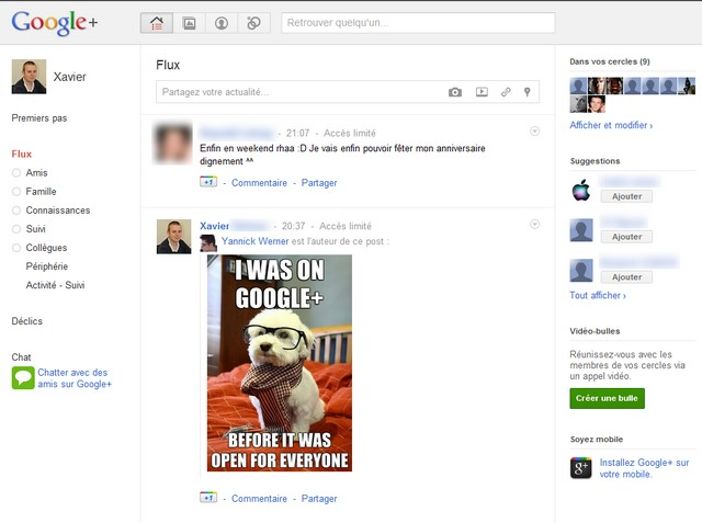 google plus le test