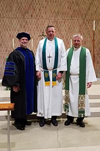 Left to right: Dr. Don Wiley, Rev. Paul Hopkins, Rev. Sergio Fritzler
